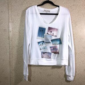 Wildfox Palm Springs Polaroid Jumper Sweater